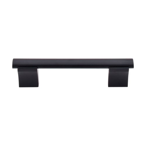 Bar Pull 3-3/4 Inch Center to Center Flat Black Cabinet Pull <small>(#M1094)</small>