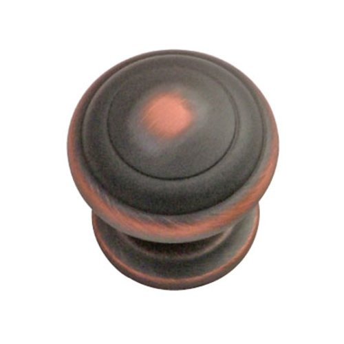 Hickory Hardware Zephyr 1-1/4 Inch Diameter Oil Rubbed Bronze Highlighted Cabinet Knob P2283-OBH