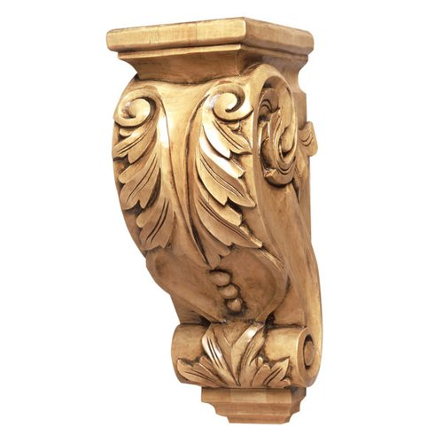 "Grand River Cor-4 Acanthus Lotus Corbel 14"" H-Cherry COR-4-C"