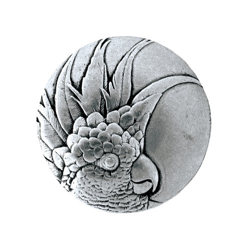 Notting Hill Tropical 1-3/8 Inch Diameter Brilliant Pewter Cabinet Knob NHK-324-BP-L