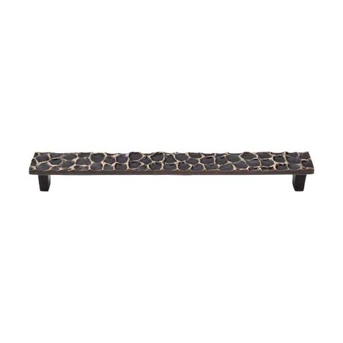 Top Knobs Cobblestone 8-13/16 Inch Center to Center Brass Antique Cabinet Pull TK308BA