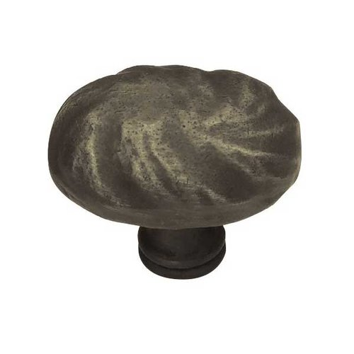 Rustique 1-5/8 Inch Diameter Distressed Oil Rubbed Bronze Cabinet Knob <small>(#PN1330-OB-C)</small>