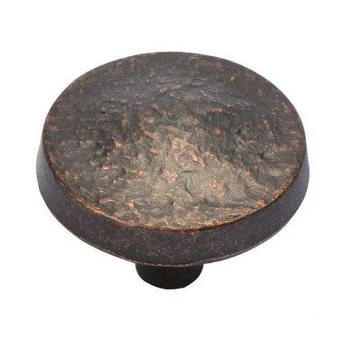 Hickory Hardware Bedrock 1-1/4 Inch Diameter Dark Antique Copper Cabinet Knob P3564-DAC