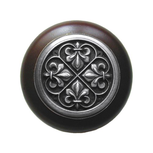Notting Hill Olde World 1-1/2 Inch Diameter Antique Pewter Cabinet Knob NHW-760W-AP