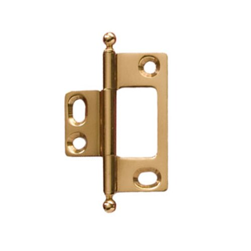 Hafele Elite Non-Mortised Butt Hinge 50X37mm - Polished Brass 351.95.882
