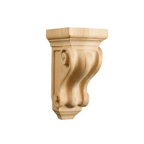 Brown Wood Petite Corinthian Corbel Unfinished Hard Maple 01605000HM1