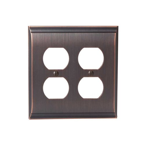 Amerock Candler Two Receptacle Wall Plate Oil Rubbed Bronze BP36509ORB