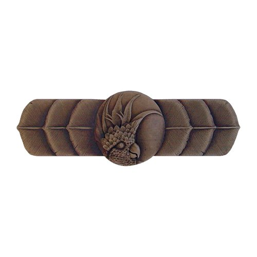 Notting Hill Tropical 3 Inch Center to Center Dark Brass Cabinet Pull NHP-326-DB-L