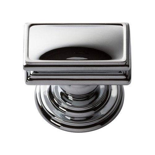 "Atlas Homewares Campaign Knob 1-1/2"" Long Polished Chrome 377-CH"