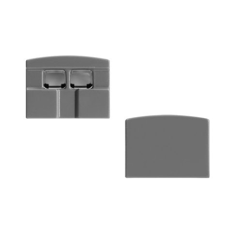 Tresco Square End Cap Set Gray <small>(#L-XSQRECP-GY-10)</small>