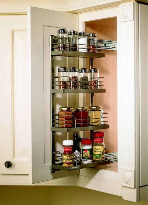 Kessebohmer 2 Tray Spice Rack Set 3 inch W Chrome/White 543.34.251