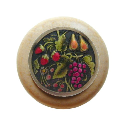 Notting Hill Tuscan 1-1/2 Inch Diameter Brass Hand Tinted Cabinet Knob NHW-713N-BHT
