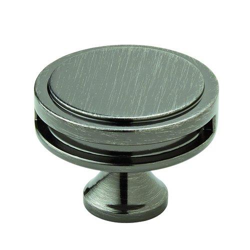 Amerock Oberon Knob 1-3/4 inch Diameter Gunmetal BP36604GM