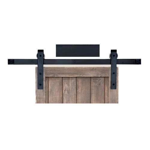 Acorn Manufacturing Basic Barn Door Rolling Hardware & 6' Track Smooth Iron BH1BI-6