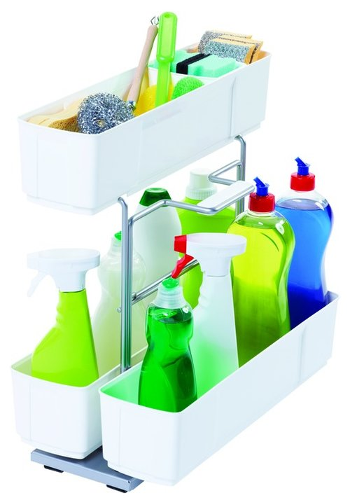 Kessebohmer Cleaning Caddy Storage Unit Pullout White 549.23.702
