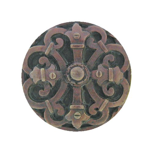 Notting Hill Olde Worlde 1-5/8 Inch Diameter Dark Brass Cabinet Knob NHK-176-DB