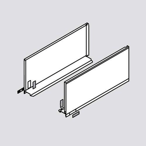 Blum Legrabox F 22 inch Drawer Profile Left/Right Stainless Steel 770F5502I