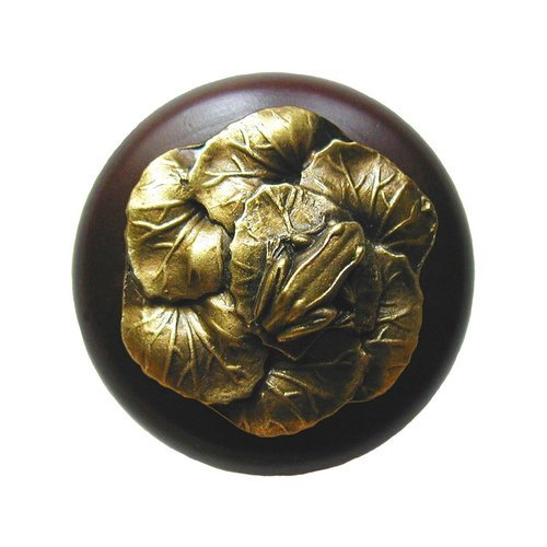 Notting Hill All Creatures 1-1/2 Inch Diameter Antique Brass Cabinet Knob NHW-709W-AB