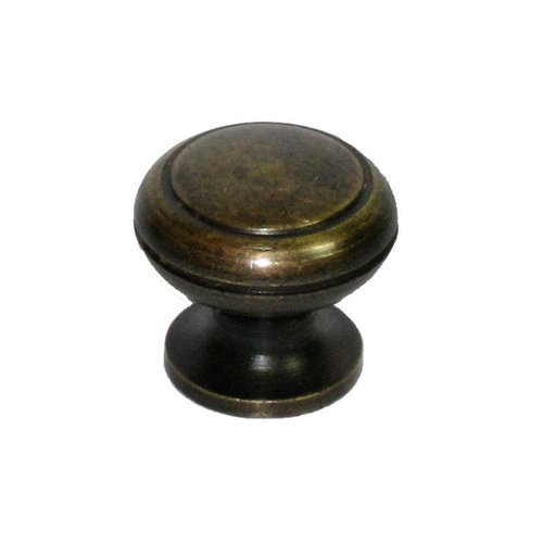 Gado Gado Knobs 3/4 Inch Diameter Unlacquered Antique Brass Cabinet Knob HKN1044