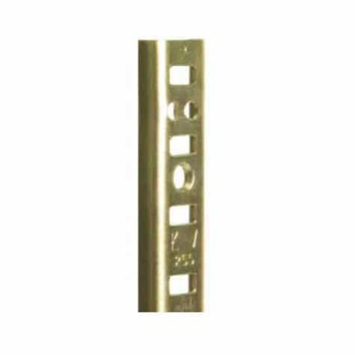 "Knape and Vogt KV #255 Steel Pilaster Strip-Brass 48"" 255 BR 48"