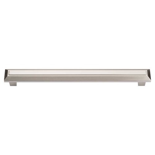 Trocadero 7-9/16 Inch Center to Center Brushed Nickel Cabinet Pull <small>(#285-BRN)</small>