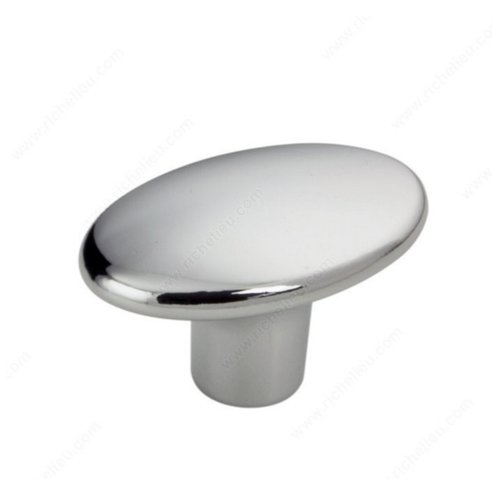 Richelieu Art Deco 1-7/16 Inch Diameter Chrome Cabinet Knob 256037140