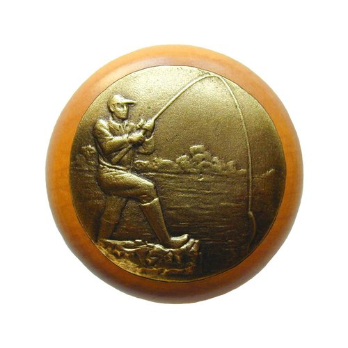 Notting Hill Great Outdoors 1-1/2 Inch Diameter Antique Brass Cabinet Knob NHW-707M-AB