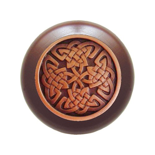 Notting Hill Jewel 1-1/2 Inch Diameter Antique Copper Cabinet Knob NHW-757W-AC