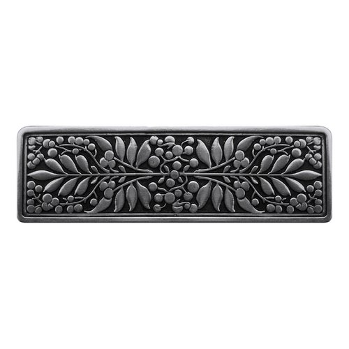Notting Hill English Garden 3 Inch Center to Center Brilliant Pewter Cabinet Pull NHP-679-BP