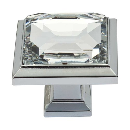 Atlas Homewares Legacy Crystal 1-5/16 Inch Diameter Polished Chrome Cabinet Knob 340-CH