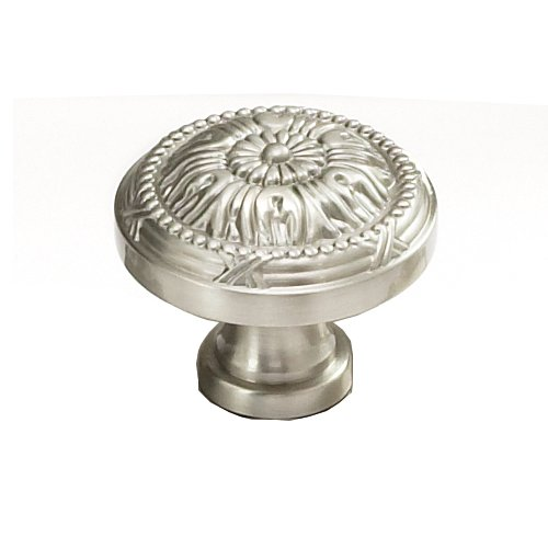 Schaub and Company Versailles Forged Solid Brass 1-1/4 Inch Diameter Satin Nickel Cabinet Knob 751-15