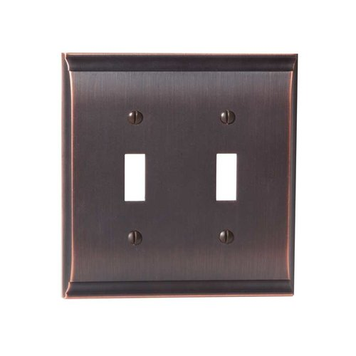 Amerock Candler Two Toggle Wall Plate Oil Rubbed Bronze BP36501ORB