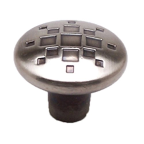 Overture 1-5/16 Inch Diameter Rustic Black Nickel Cabinet Knob <small>(#7118-1RBN-C)</small>