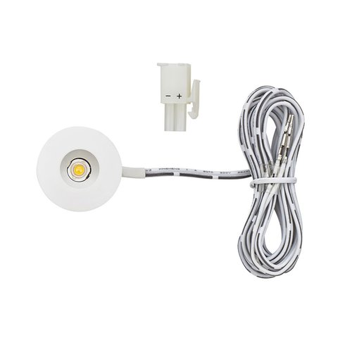 Tresco International 1W 12VDC Mini-Spot/Eye LED 3000K White L-LED-1EB-WWH-1