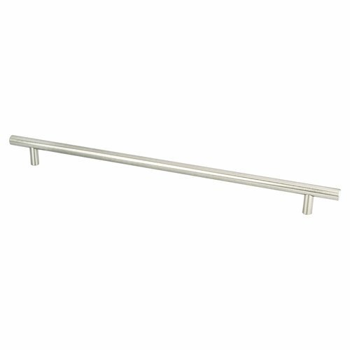 Berenson Tempo 12-5/8 Inch Center to Center Brushed Nickel Cabinet Pull 0810-2BPN-P