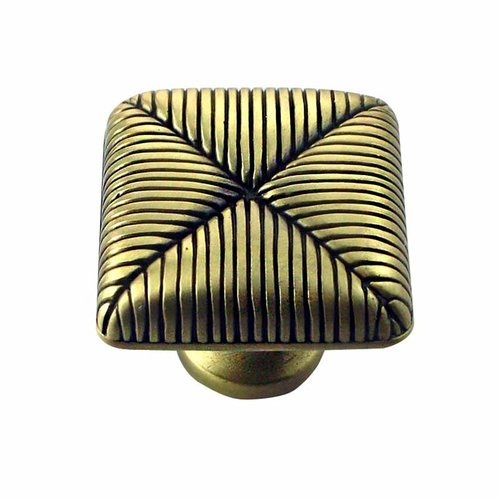 MNG Hardware Textures 1 Inch Diameter Satin Antique Brass Cabinet Knob 10710