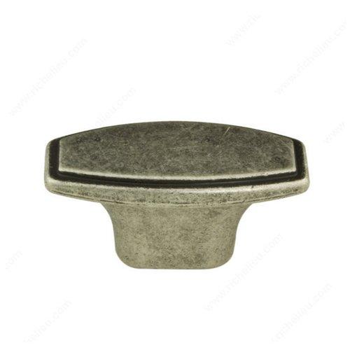 Richelieu Art Deco 1-3/4 Inch Diameter Faux Iron Cabinet Knob 870045904