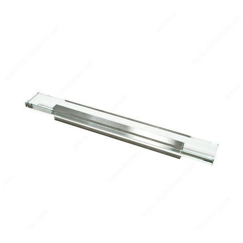 Richelieu Clear 5-1/16 Inch Center to Center Brushed Nickel,,Clear Cabinet Pull 202412819511