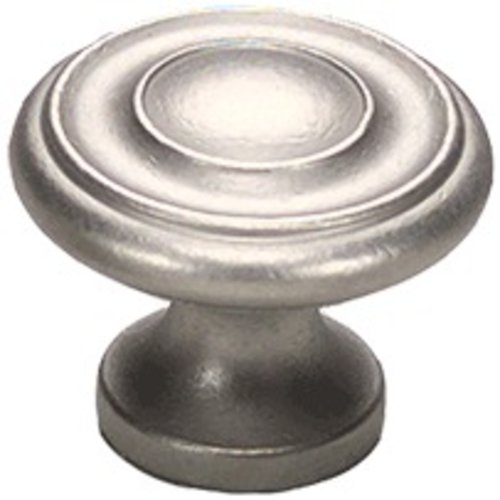 Schaub and Company Solid Brass Traditional Designs 1-1/4 Inch Diameter Distressed Nickel Cabinet Knob 703-DN