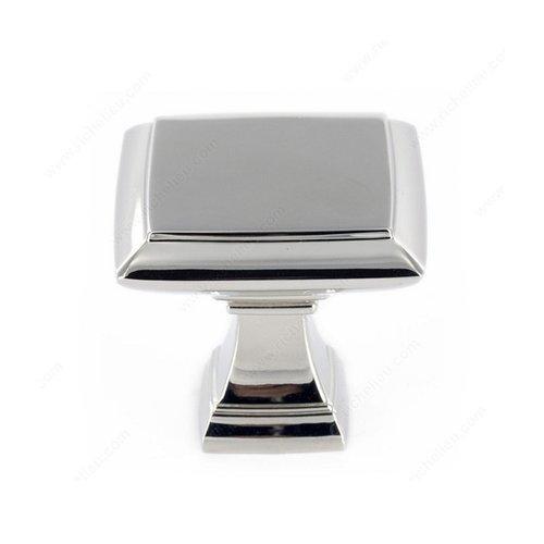 Richelieu Heritage 1-1/4 Inch Diameter Polished Nickel Cabinet Knob 501232180