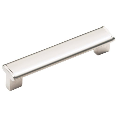 Schaub and Company Italian Designs Tenor 6-5/16 Inch Center to Center Satin Nickel Cabinet Pull 245-160-15