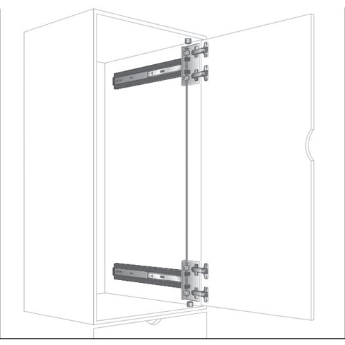 "Knape and Vogt KV 8092 4X4 Pocket Door Slide 28"" 8092P EB 28"