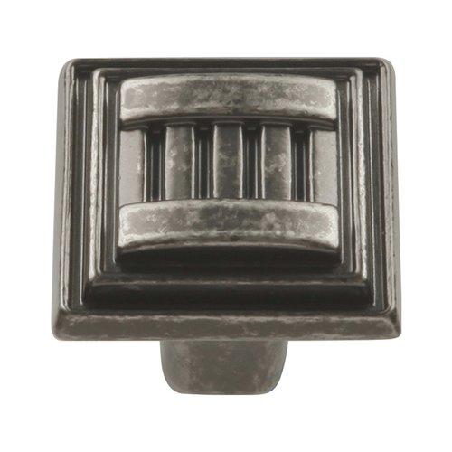 Hickory Hardware Sydney 1-1/16 Inch Diameter Black Nickel Vibed Cabinet Knob HH74679-BNV