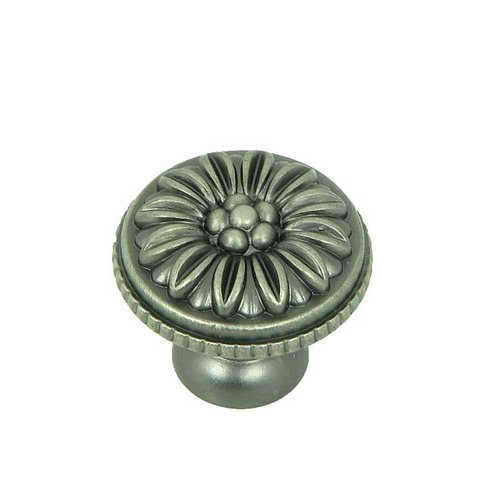 Stone Mill Hardware Cornell 1-3/8 Inch Diameter Weathered Nickel Cabinet Knob CP82112-WEN