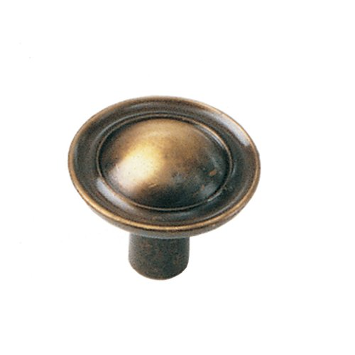 Classic Traditions 1 Inch Diameter Antique Brass Cabinet Knob <small>(#75505)</small>