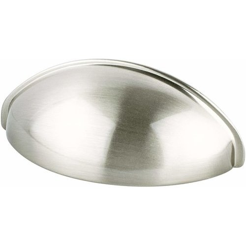 Berenson Advantage Plus 3 2-1/2 Inch Center to Center Brushed Nickel Cabinet Cup Pull 0963-1BPN-P