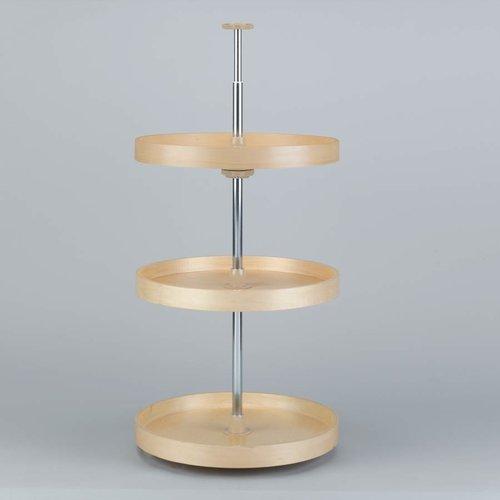"Rev-A-Shelf Full Circle Three Shelf Set 20"" Diameter - Wood LD-4BW-063-2036-1"