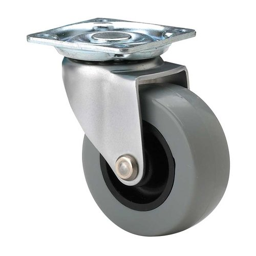Richelieu Industrial Caster with Swivel - Nickel and Grey 15010010501