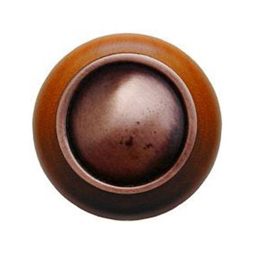 Notting Hill Classic 1-1/2 Inch Diameter Antique Copper Cabinet Knob NHW-761C-AC