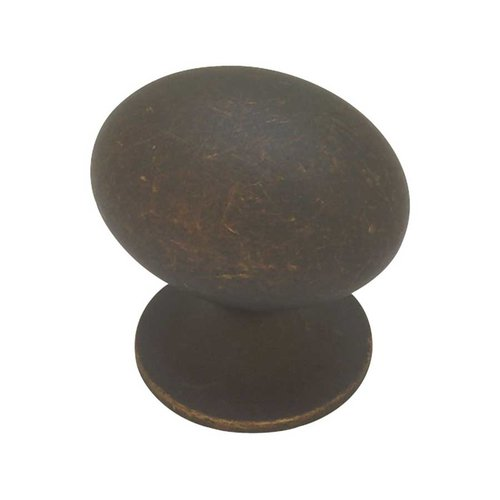 Liberty Hardware Fusilli 1-3/8 Inch Diameter Distressed Oil Rubbed Bronze Cabinet Knob PN0393-OB-C